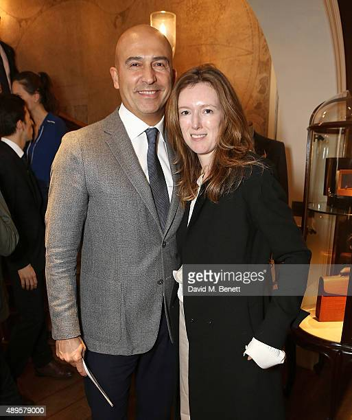 Fabrizio Cardinali and Clare Waight Keller attend The World Land Trust screening of The Orchids of Banos supported by Alfred Dunhill on September 22...