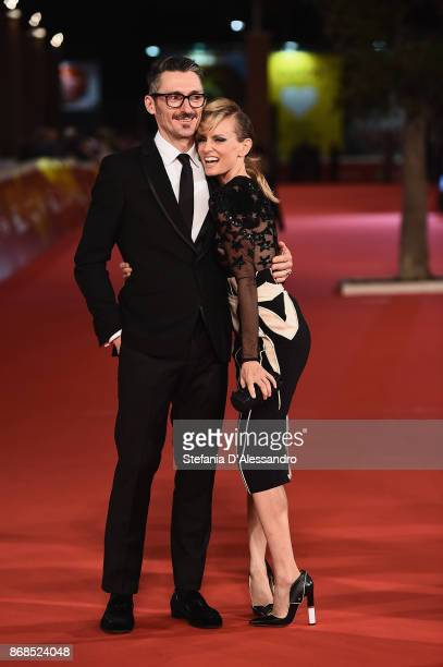 Fabrizio Cassata and Justine Mattera walk a red carpet for 'Good Food' during the 12th Rome Film Fest at Auditorium Parco Della Musica on October 30...