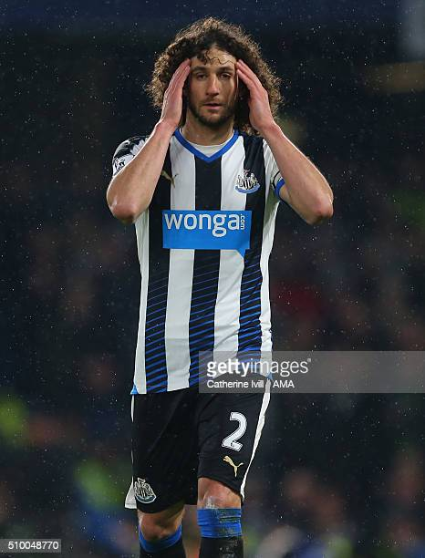 Fabrizio Coloccini of Newcastle Unitedduring the Barclays Premier League match between Chelsea and Newcastle United at Stamford Bridge on February 13...