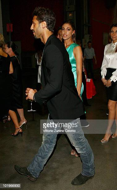 Fabrizio Corona and Belen Rodriguez attend the 2010 Convivio held at Fiera Milano City on June 10, 2010 in Milan, Italy.