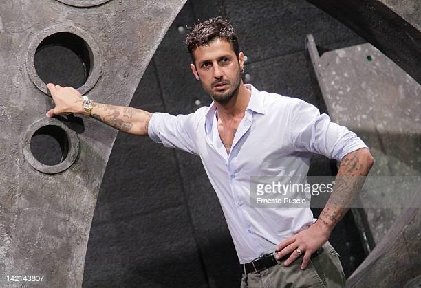 Fabrizio Corona attends the 'Liberta di Parola' press conference at Ex Studios De Paolis on March 30 2012 in Rome Italy