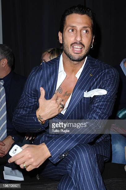 Fabrizio Corona attends the Rifle fashion show during Pitti Immagine Uomo 81 on January 10 2012 in Florence Italy