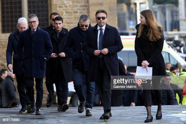 Fabrizio Corsi president of Empoli Fc anh his staff during the funeral of Davide Astori on March 8 2018 in Florence Italy The Fiorentina captain and...
