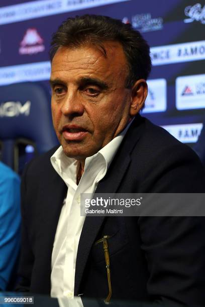 Fabrizio Corsi president of Empoli FC during a press conference on July 11 2018 in Empoli Italy