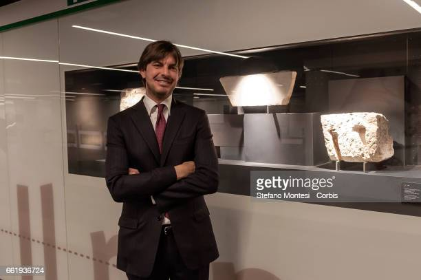 Fabrizio Di Paola CEO of Metro Cduring the presentation to the press of the new stop Metro C in San Giovanni on March 31 2017 in Rome Italy Inside...