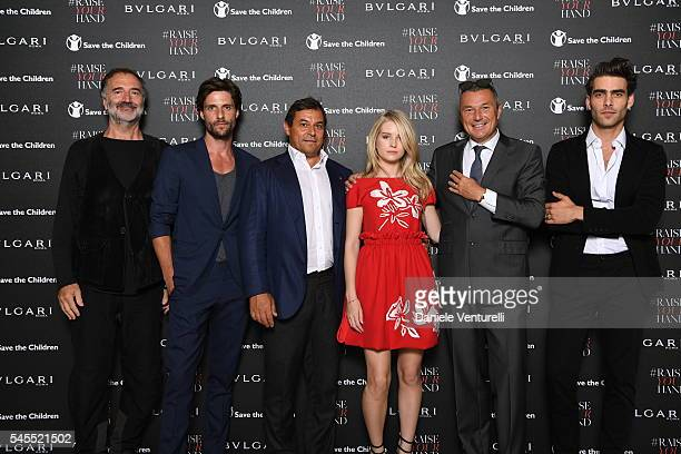 Fabrizio Ferri Tommy Dunn Claudio Tesauro Lottie Moss JeanChristophe Babin and Jon Kortajarena attend the Bvlgari and Save The Children Unveiling of...
