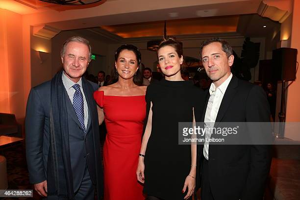 Fabrizio Freda and Charlotte Casiraghi attend The Weinstein Company's Academy Awards Nominees Dinner in partnership with Chopard DeLeon Tequila FIJI...