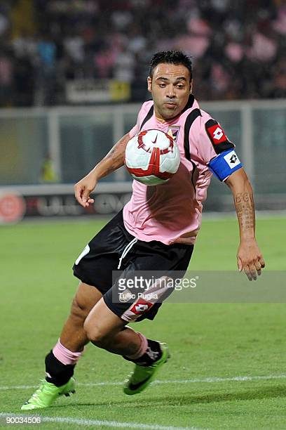 Fabrizio Miccoli of Palermo in action during the Serie A match between US Citta di Palermo and SSC Napoli at Stadio Renzo Barbera on August 23, 2009...