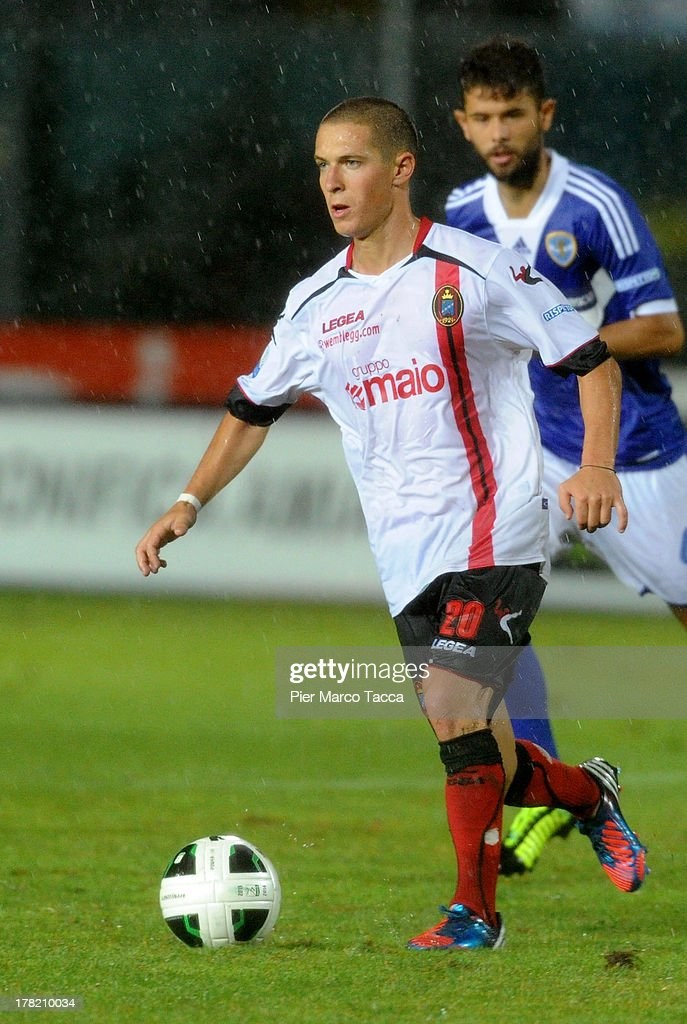 Fabrizio Paghera of Virtus Lanciano in action during the Serie B match between Brescia Calcio and Virtus Lanciano at Mario Rigamonti Stadium on August 24, 2013 in Brescia, Italy.