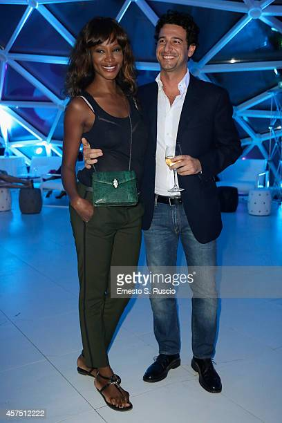 Fabrizio Ragone and Youma Diakite attend the Party Lanterna Di Fuksas during the 9th Rome Film Festival on October 19 2014 in Rome Italy