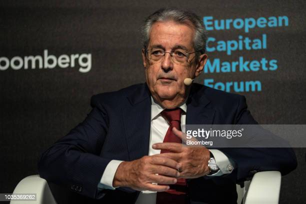 Fabrizio Saccomanni chairman of UniCredit SpA pauses during the European Capital Markets in Milan Italy on Tuesday Sept 18 2018 Europe's most senior...