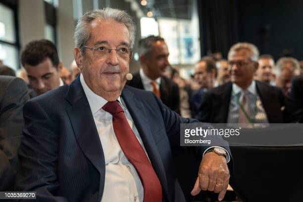 Fabrizio Saccomanni chairman of UniCredit SpA sits in the audience during the European Capital Markets in Milan Italy on Tuesday Sept 18 2018...