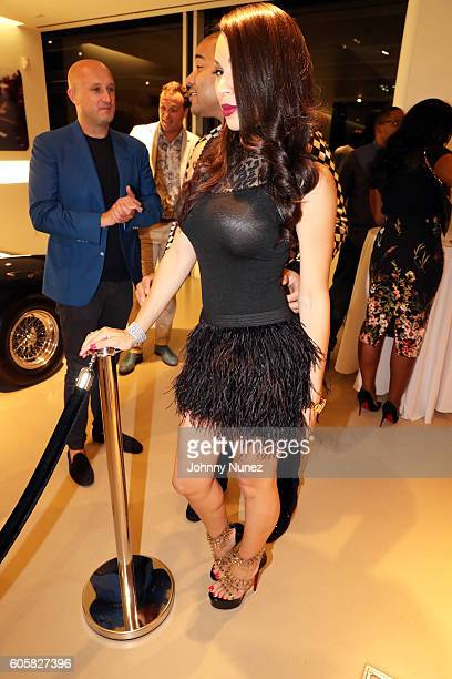 Fabrizio Sotti DJ Envy and Gia Casey attend DJ Envy's Birthday Celebration at Ferrari Corporate Showroom on September 14 2016 in New York City