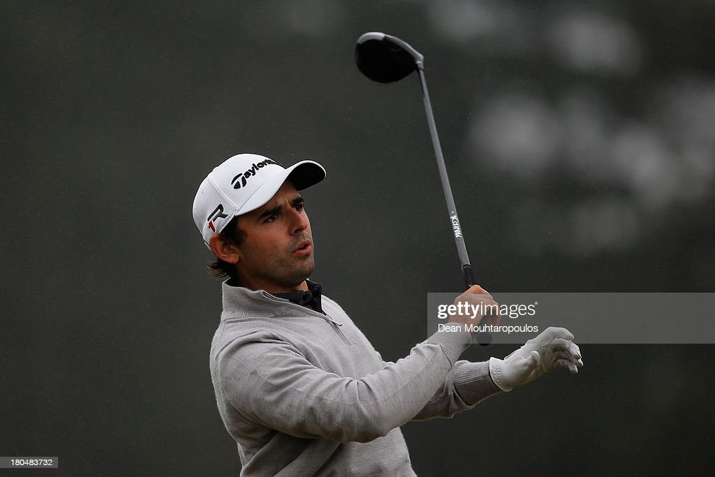 Fabrizio Zanotti of Paraguay hits his tee shot on the 2nd hole during Day 2 of the KLM Open at Kennemer G & CC on September 13, 2013 in Zandvoort, Netherlands.