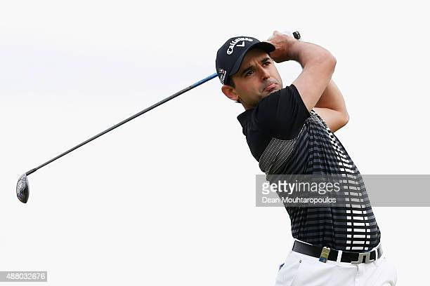 Fabrizio Zanotti of Paraguay hits his tee shot on the 9th hole during the KLM Open Final Round held at Kennemer G CC on September 13 2015 in...