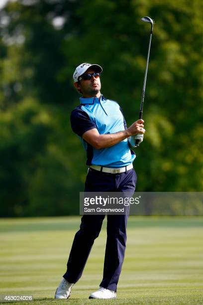 Fabrizio Zanotti of Paraguay hits off the 11th fairway during the second round of the World Golf ChampionshipsBridgestone Invitational at Firestone...