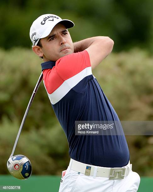 Fabrizio Zanotti of Paraguay in action during the final round of the Irish Open at the Fota Island Resort on June 22 2014 in Cork Ireland