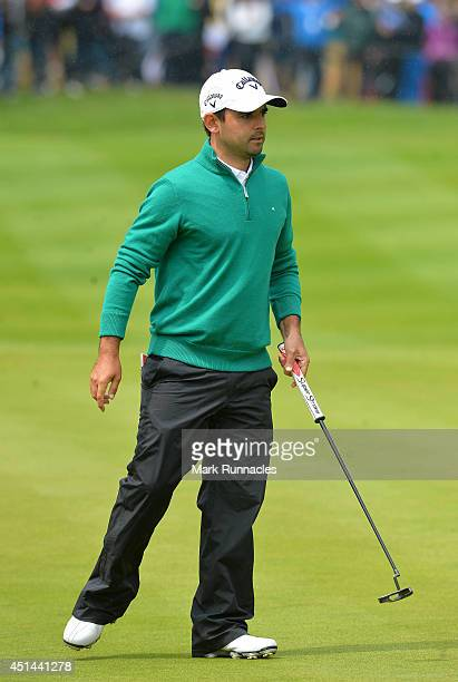 Fabrizio Zanotti of Paraguay in action in a 4 way play off during the fourth round of the BMW International Open at Golf Club Gut Larchenhof on June...