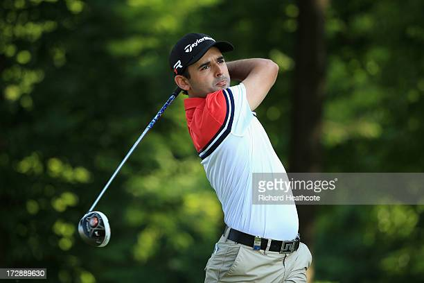 Fabrizio Zanotti of Paraguay tee's off at the 14th during the second round of the Alstom Open de France at Le Golf National on July 5 2013 in Paris...