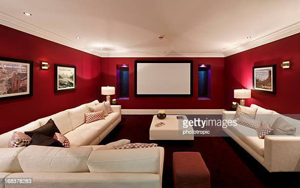 fabulous cinema room - arts culture and entertainment stock pictures, royalty-free photos & images