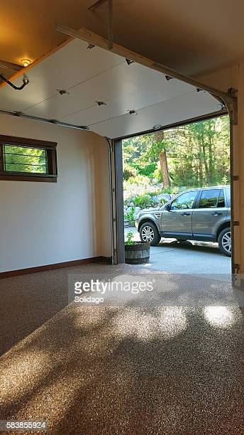 Fabulous Garage Interior With SUV Outside