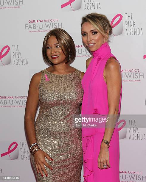 FabUWish award recipient Larissa Podermanski and television personality/event hostess Giuliana Rancic attend The Pink Agenda's 2016 Gala held at...