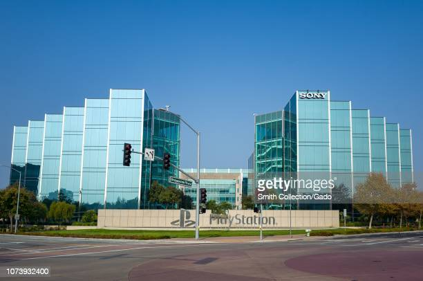 Facade at regional headquarters of Sony Interactive Entertainment, as well as headquarters of the PlayStation division of Sony, in the Silicon...