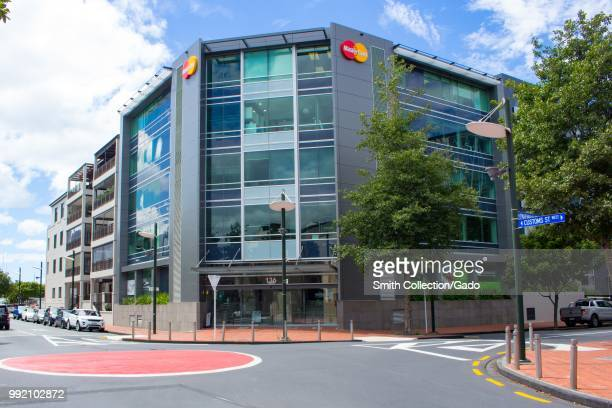 Facade at the regional headquarters of Mastercard in Auckland New Zealand February 26 2018