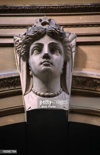 Facade bust on former GPO building, Martin Place.