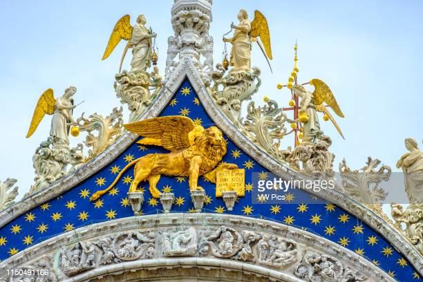 Facade detail Saint Mark's Basilica Piazza San Marco Venice Italy Europe