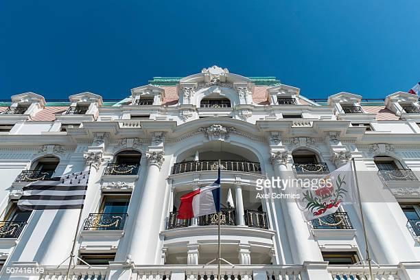 Facade, Luxury Hotel Le Negresco, Nice, French Riviera, France