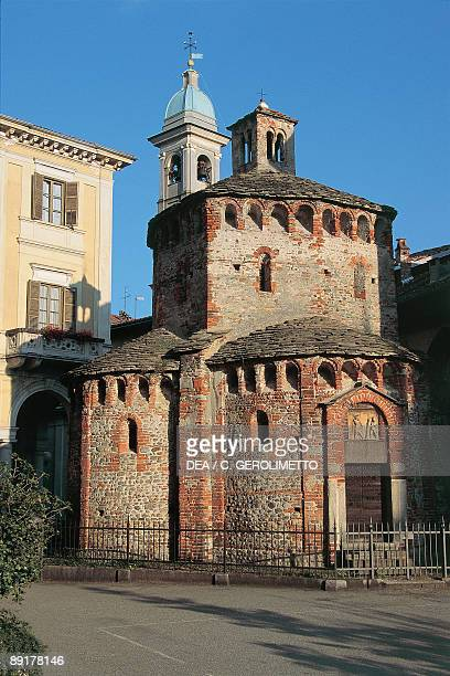 Facade of a baptistery Biella Piedmont Italy