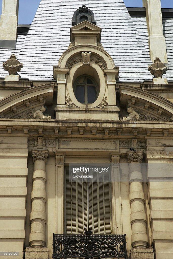 Facade of a building, Buenos Aires, Argentina : Foto de stock