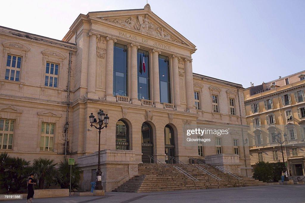 Facade of a building, Nice, France : Foto de stock