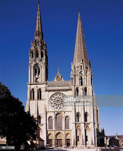 Facade of a cathedral Notre Dame Chartres France
