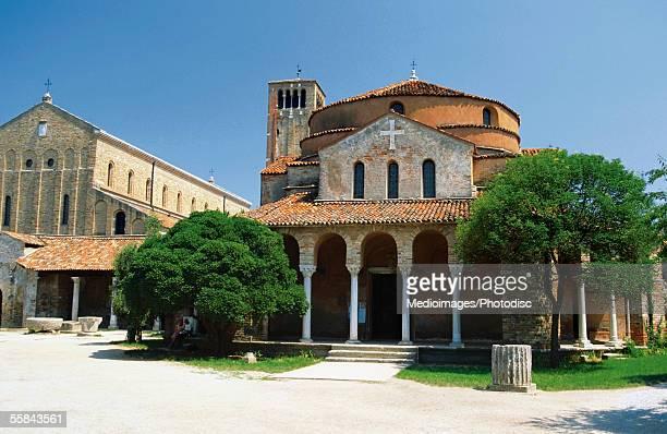 Facade of a cathedral, Torcello, Venice, Italy