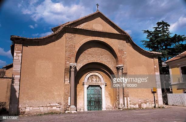 Facade of a church Church of Santa Sofia Piazza Santa Sofia Benevento Campania Italy