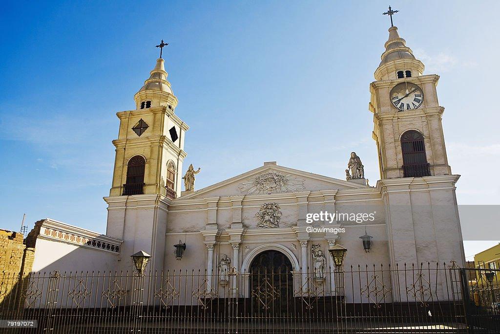 Facade of a church, Ica, Ica Region, Peru : Stock Photo