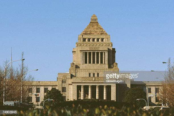 Facade of a government building, National Diet Building, Tokyo Prefecture, Japan