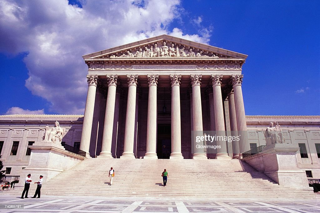 Facade of a government building, US Supreme Court, Washington DC, USA : Stock Photo