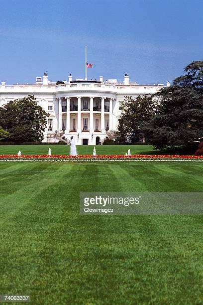 Facade of a government building, White House, Washington DC, USA