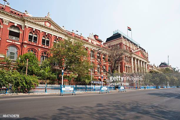 facade of a government building, writers building, kolkata, west bengal, india - kolkata stock pictures, royalty-free photos & images
