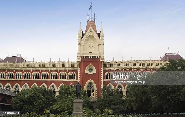 Facade of a high court building, Calcutta High Court, Kolkata, West Bengal, India.