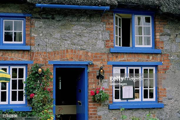 Facade of a house, Adare, Republic of Ireland