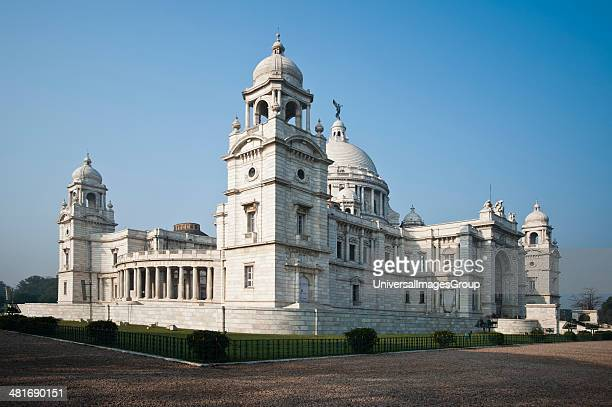Facade of a memorial building Victoria Memorial Kolkata West Bengal India