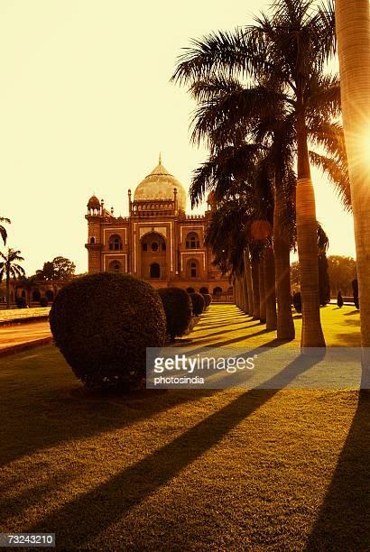 Facade of a monument at dusk, Safdarjung Tomb, New Delhi, India