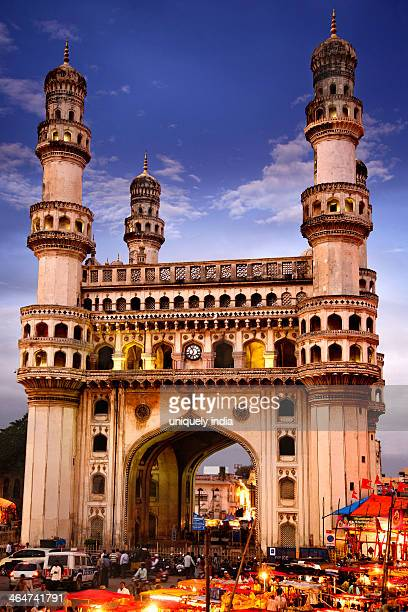 Facade of a Mosque, Charminar, Hyderabad, Andhra Pradesh, India