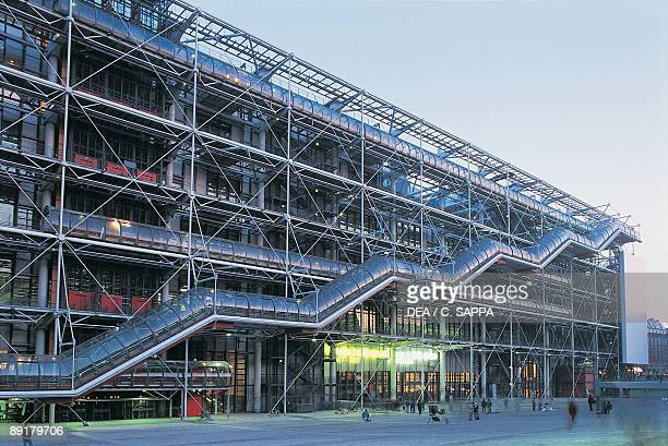 Facade of a museum, Pompidou Center, Paris, France