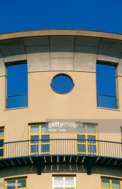 facade of a music school in stuttgart - performing arts center stock pictures, royalty-free photos & images