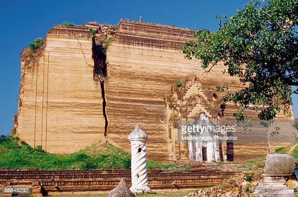 Facade of a pagoda, Mingun, Myanmar